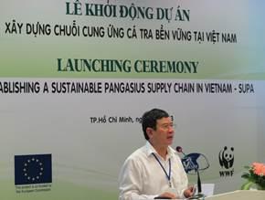 Ông Nguyễn Huy Điền – Tổng Cục phó Tổng cục Thủy sản phát biểu tại Hội thảo